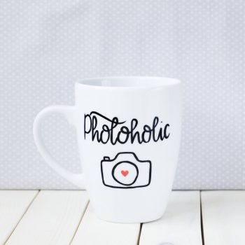 Kubek ręcznie malowany Photoholic