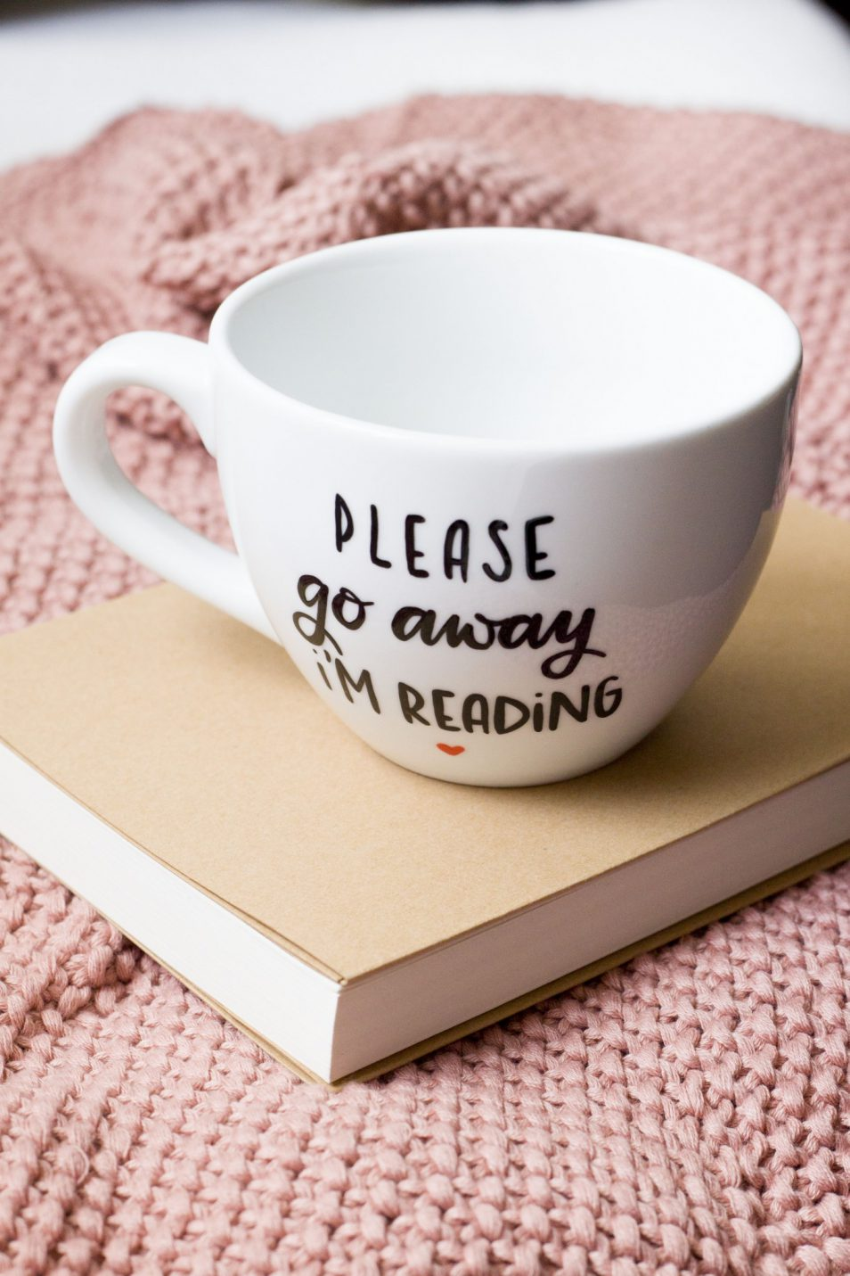 Kubek ręcznie malowany Reading