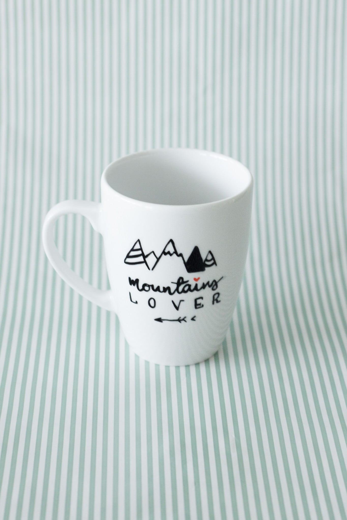 Kubek ręcznie malowany Mountains Lover