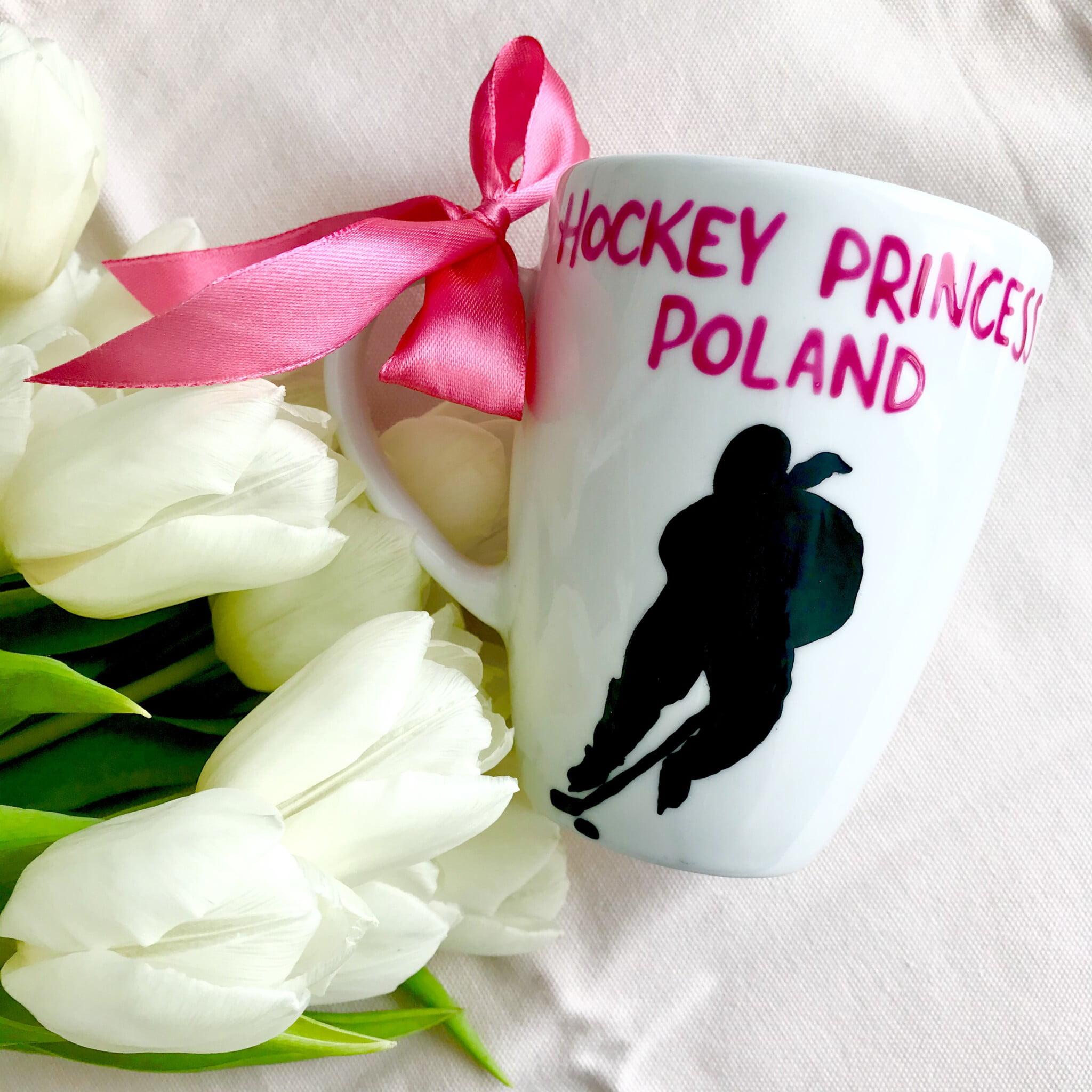 Kubek ręcznie malowany Hockey Princess