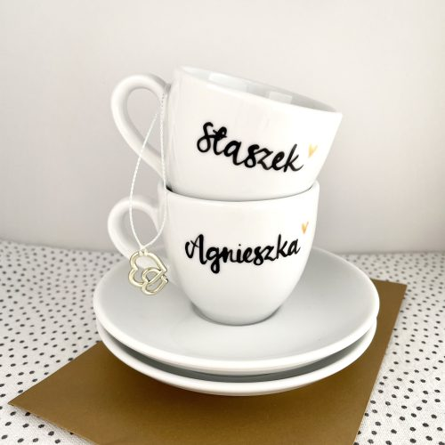 Zestaw filiżanek do espresso z imionami